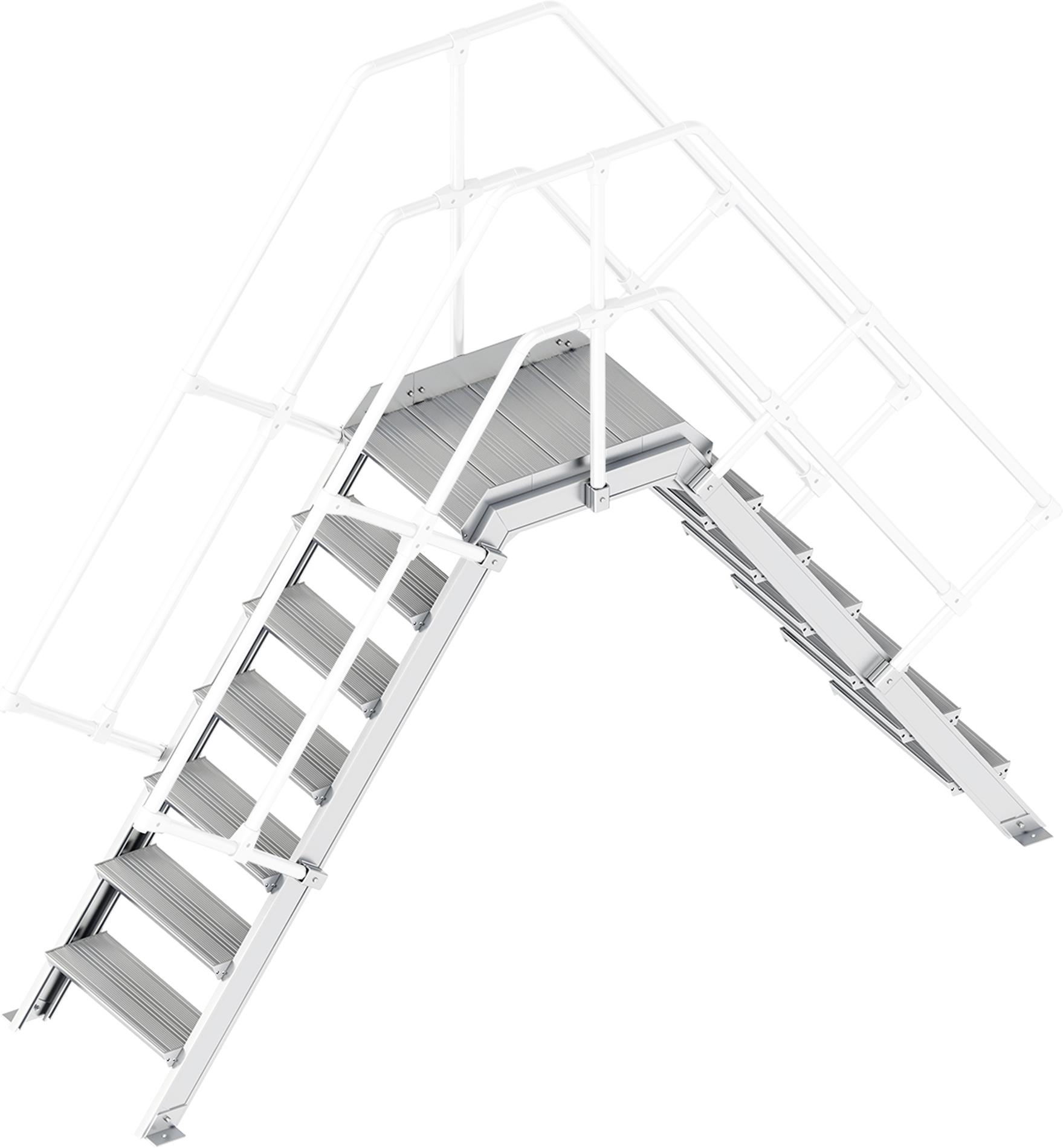 Layher Übergang 55° 7 Stufen - 600 mm breit