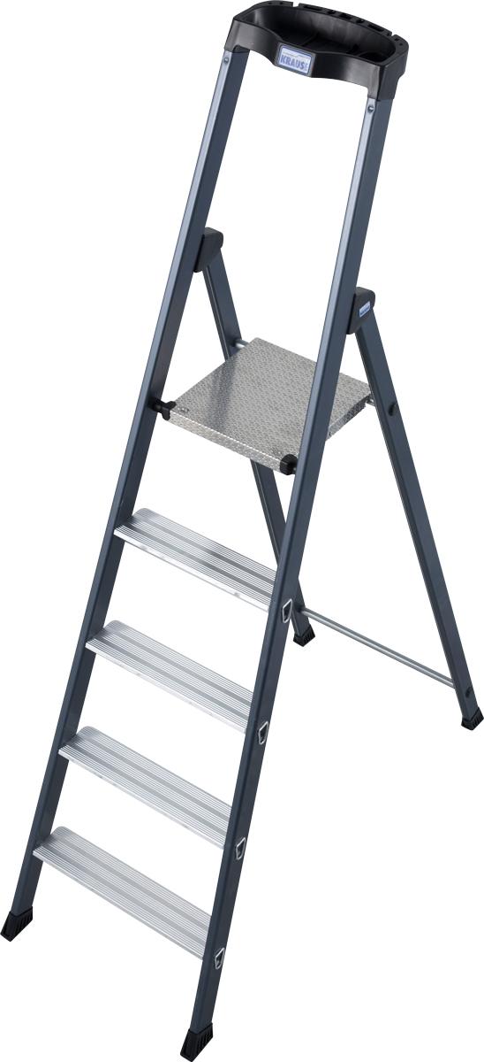Krause Alu-Stufenstehleiter Sepro® S eloxiert 5 Stufen