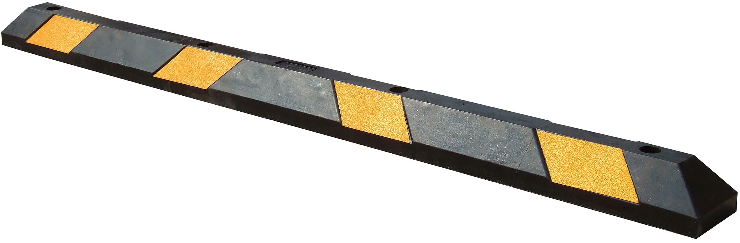 Schake Parkschwelle Kunststoff - schwarz mit gelben Reflektoren Leitschwelle mit eingelassenen gelben Reflektorfolien (SK-C-3393-102) Bild-01