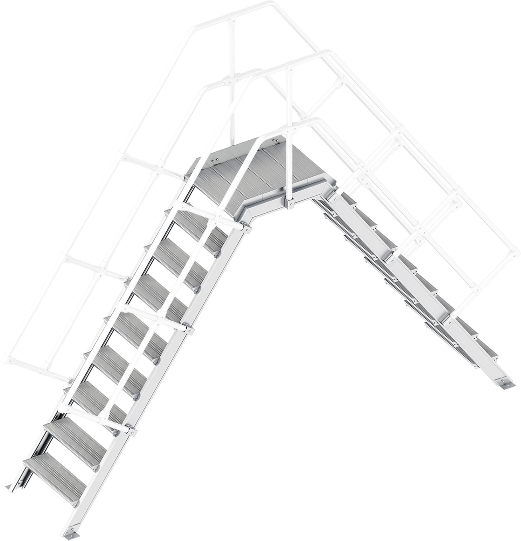 Layher Übergang 55° 9 Stufen - 600 mm breit