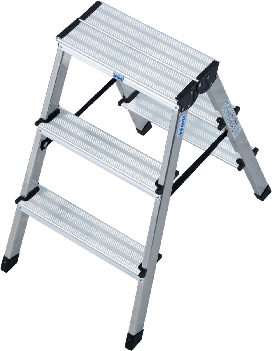 Krause Alu-Stufendoppelleiter Dopplo® 2x3 Stufen