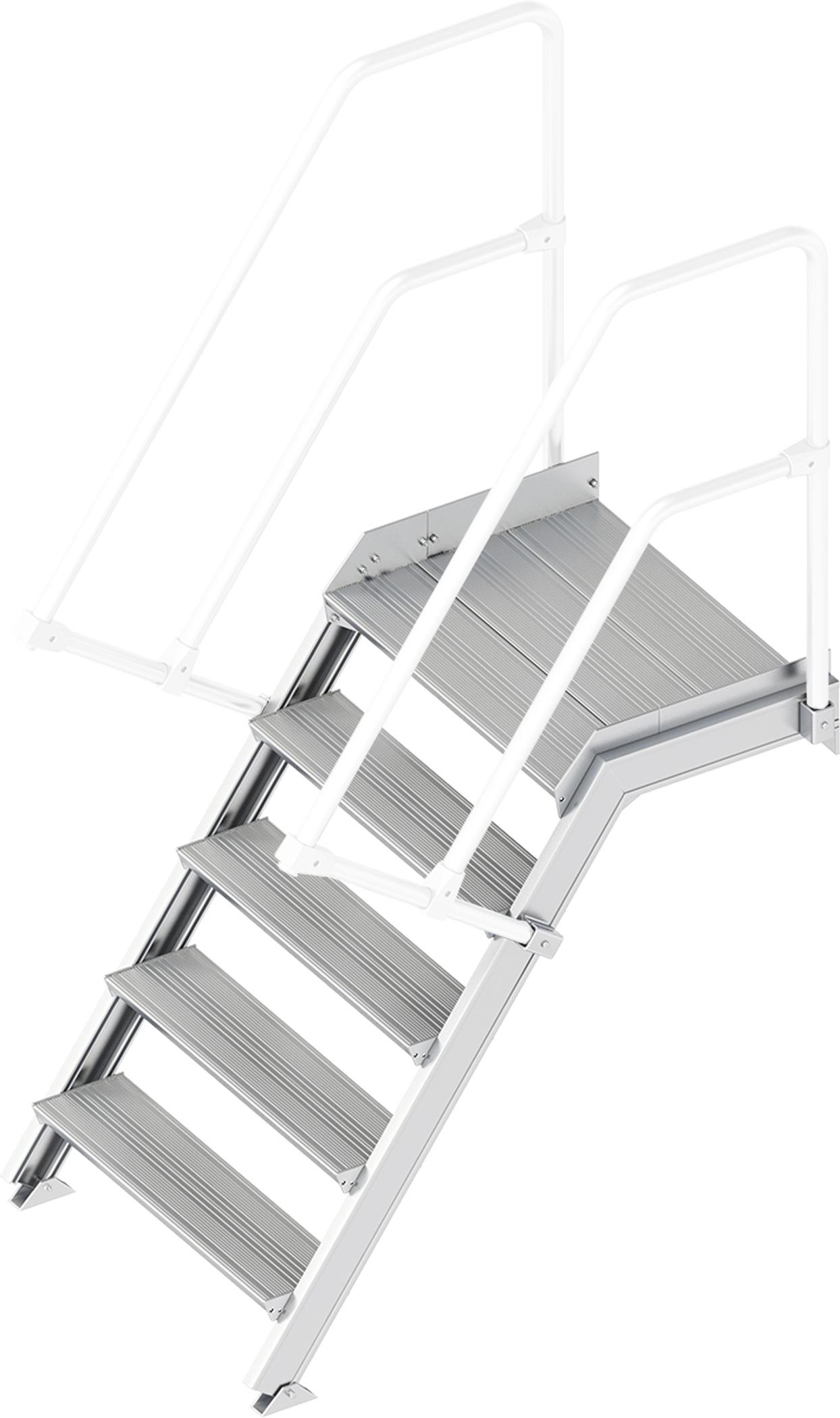 Layher Plattformtreppe 55° 5 Stufen - 800 mm breit