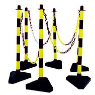 Schake Kettenständer Kunststoff Typ 2 gelb | schwarz - Set
