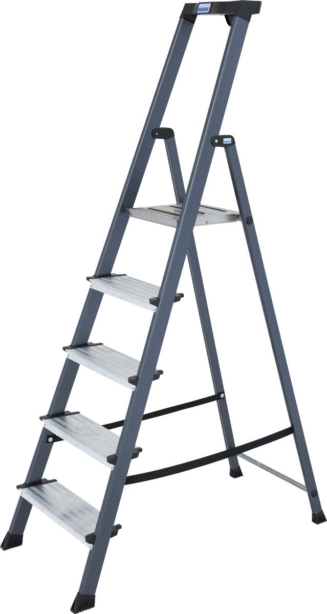 Krause Alu-Stufenstehleiter Securo® eloxiert 5 Stufen
