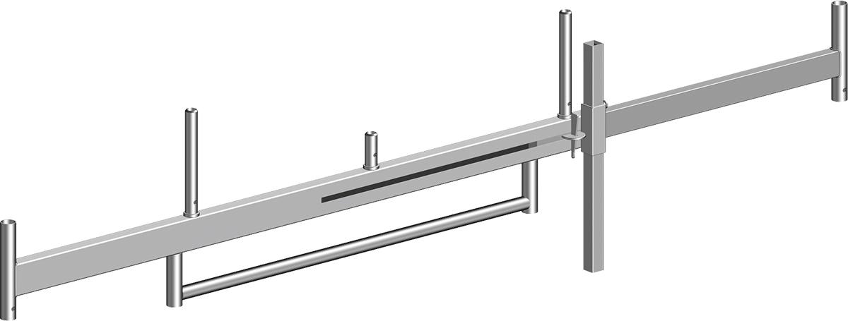 Layher Fahrgerüst Stahl-Fahrbalken mit Bügel verstellbar