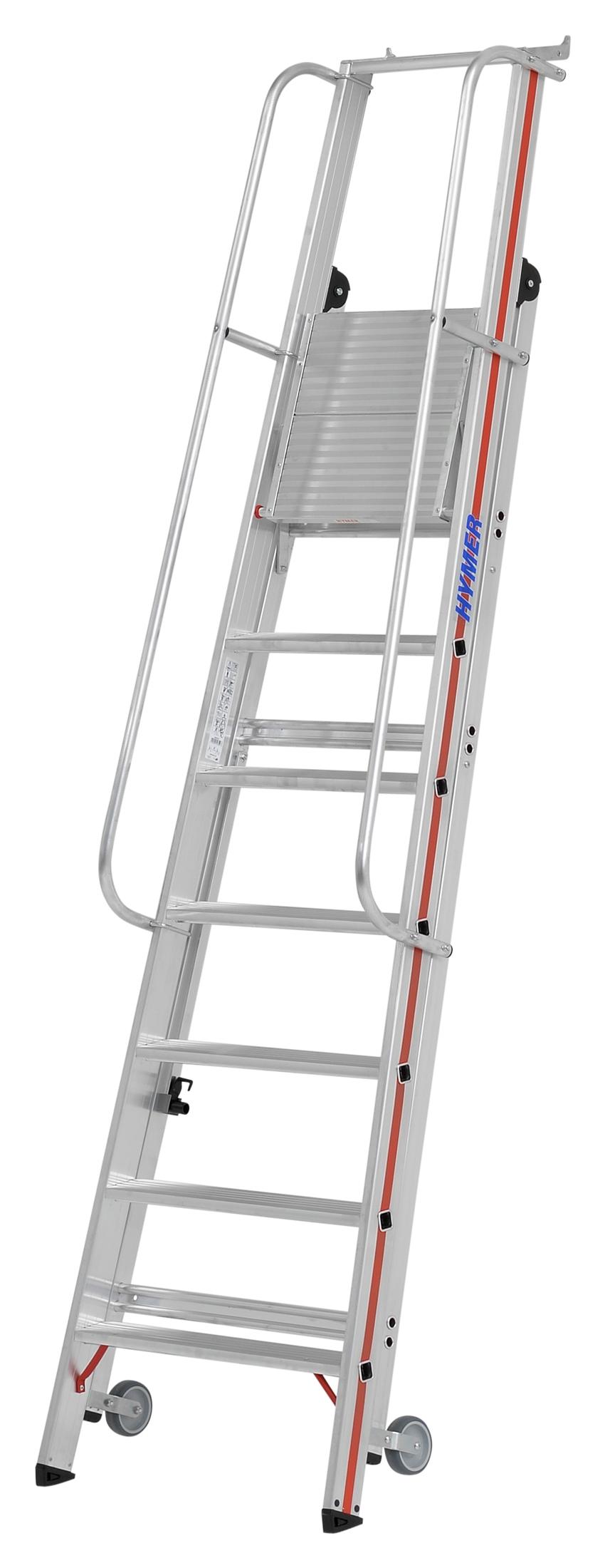 Hymer Plattformleiter rollbar 4 Stufen
