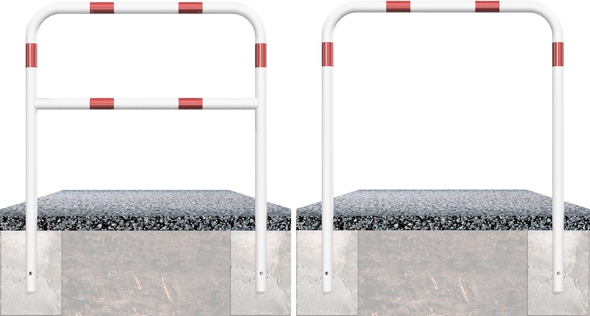 Schake Rohrbügel Stahl Ø 60 mm weiß | rot