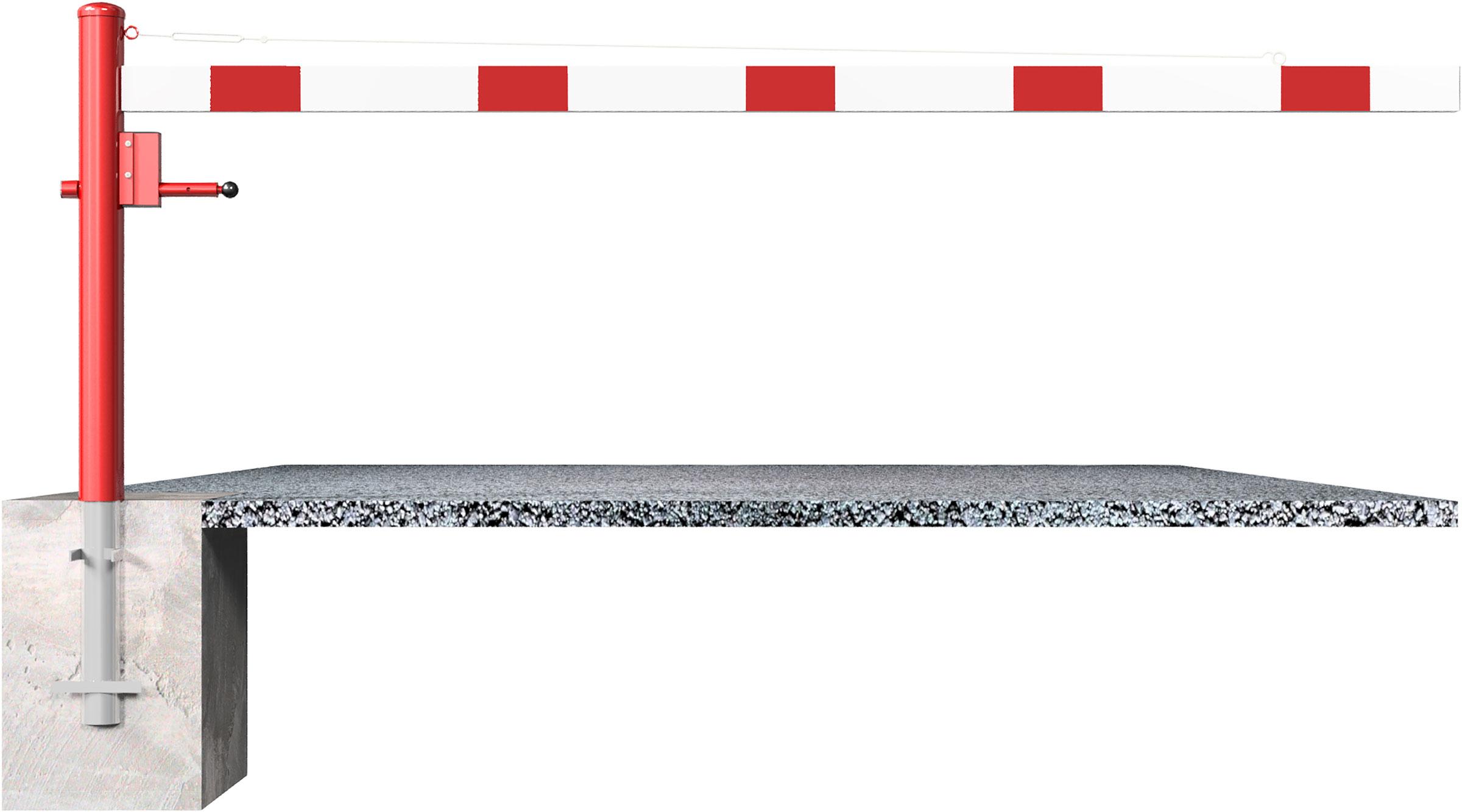 Schake Drehschranke - Schrankenbaum 100 x 50 mm OEV weiß | rot