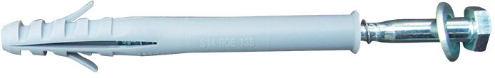 Schake Befestigungsschraube Ø 8 x 120 mm Befestigungsset für Schwellen - 1 Schraube mit Dübel und Unterlegscheibe (SK-3393-B) Bild-01