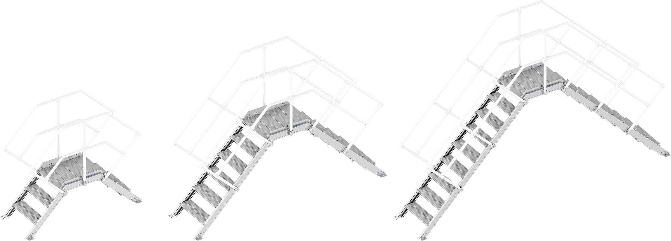 Layher Übergang 45° - 600 mm breit - ohne Handlauf