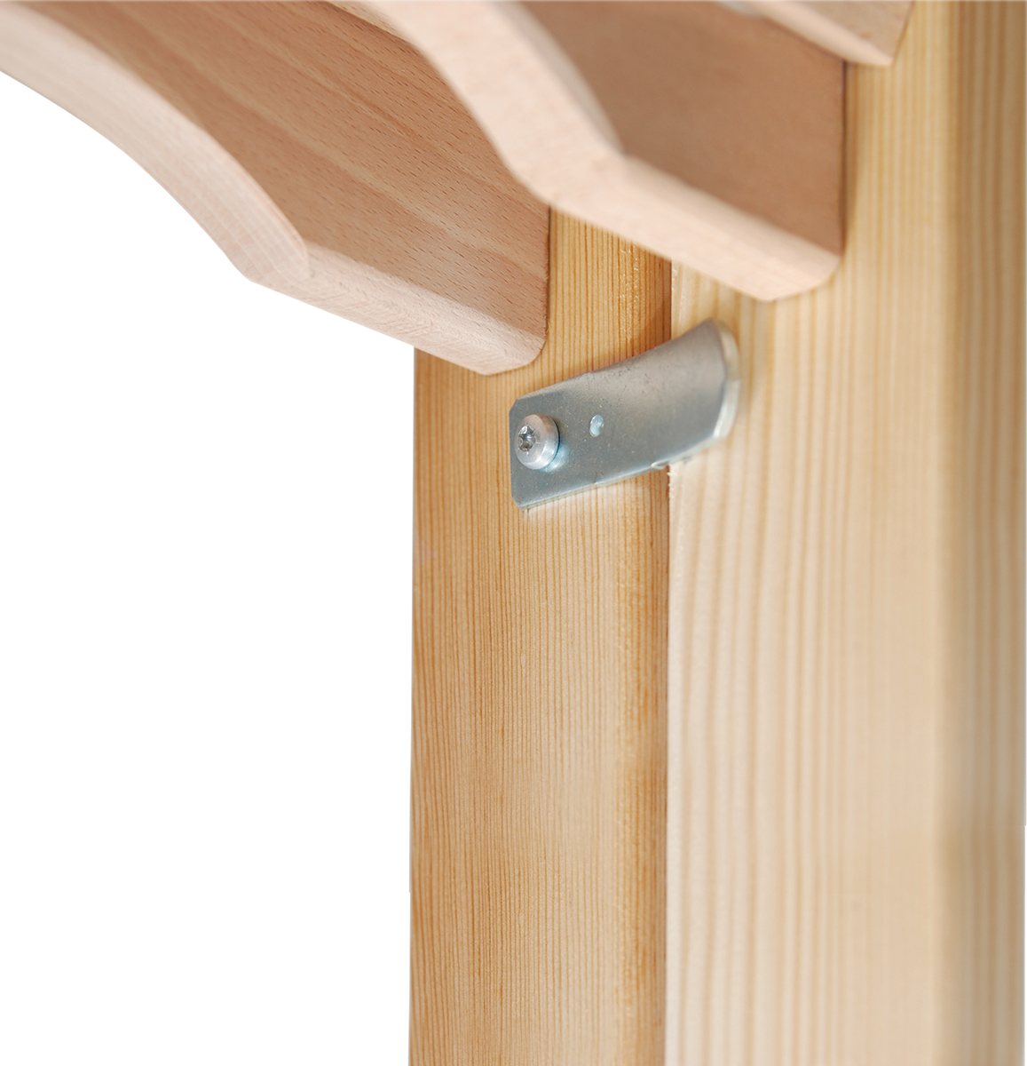 Hymer Stehleiter Holz 2x3 Sprossen