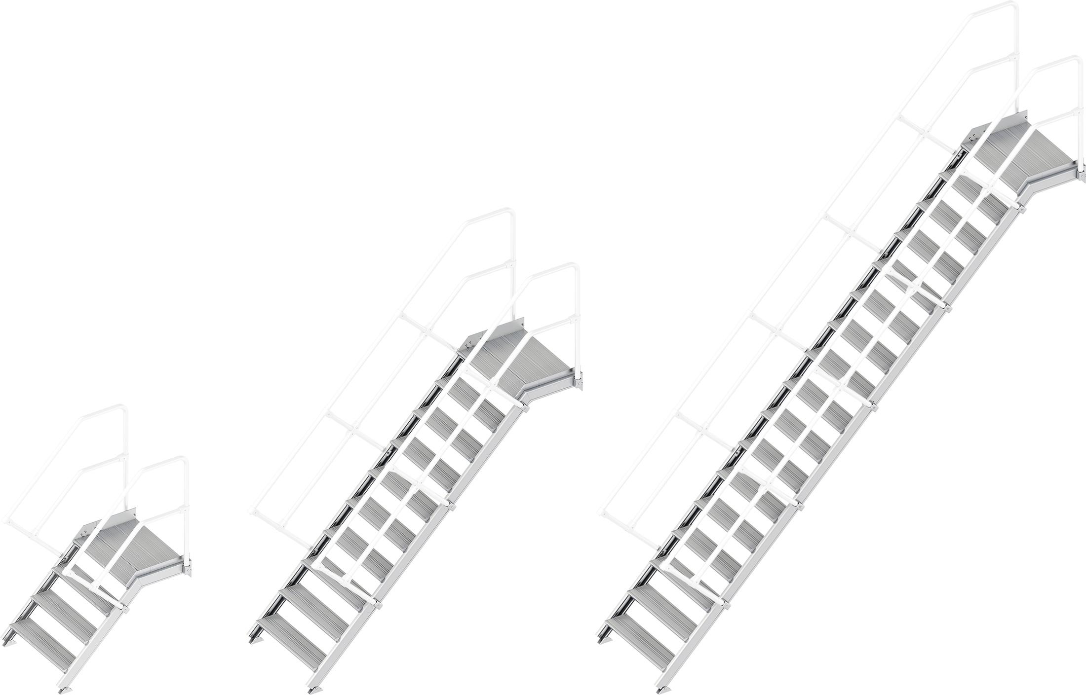 Layher Plattformtreppe 45° - 800 mm breit