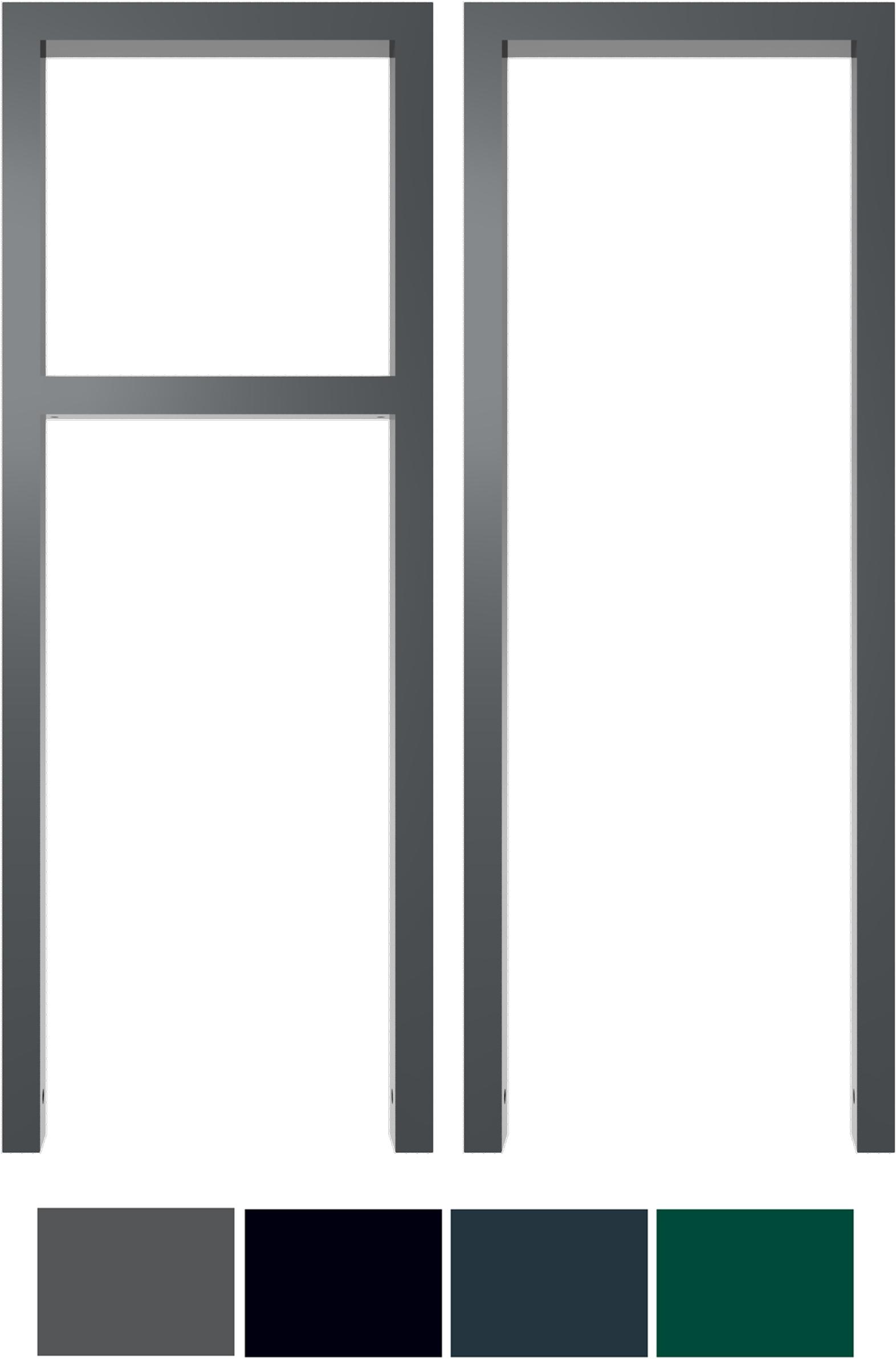 Schake Anlehnbügel Stahl 60 x 40 mm Sonderfarben