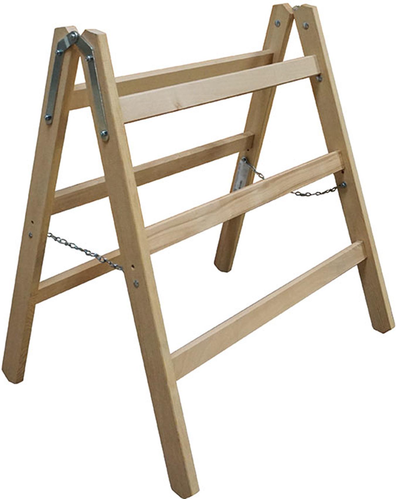 euroline Handwerkerbock extra breit Holz 2x3 Sprossen