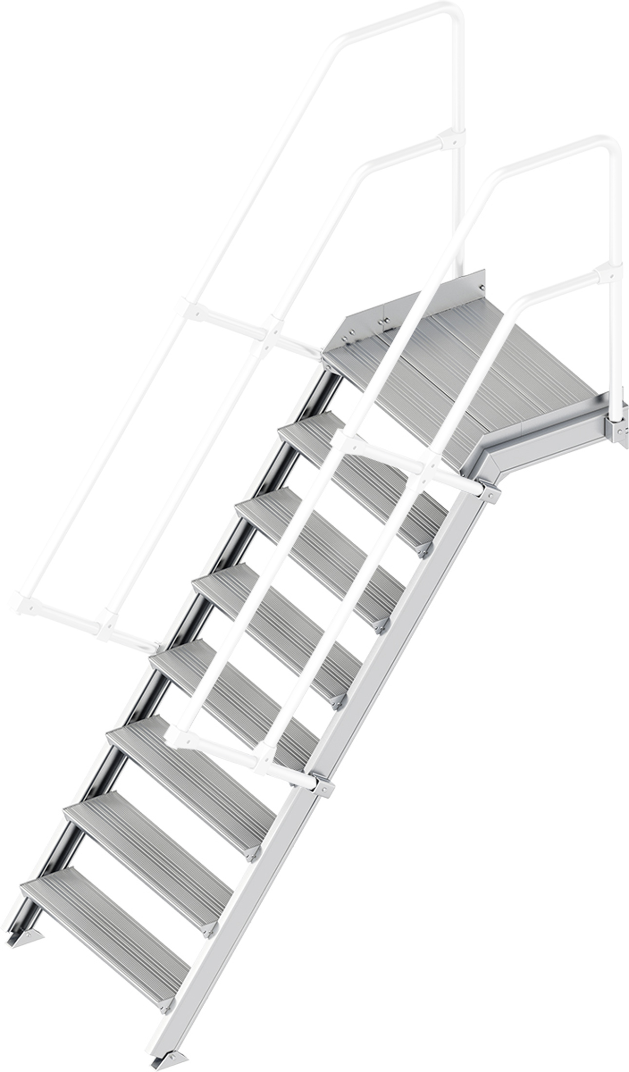 Layher Plattformtreppe 55° 8 Stufen - 800 mm breit