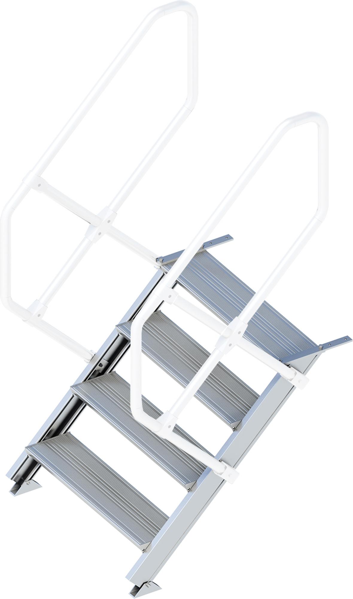 Layher Treppe 45° 4 Stufen - 800 mm breit