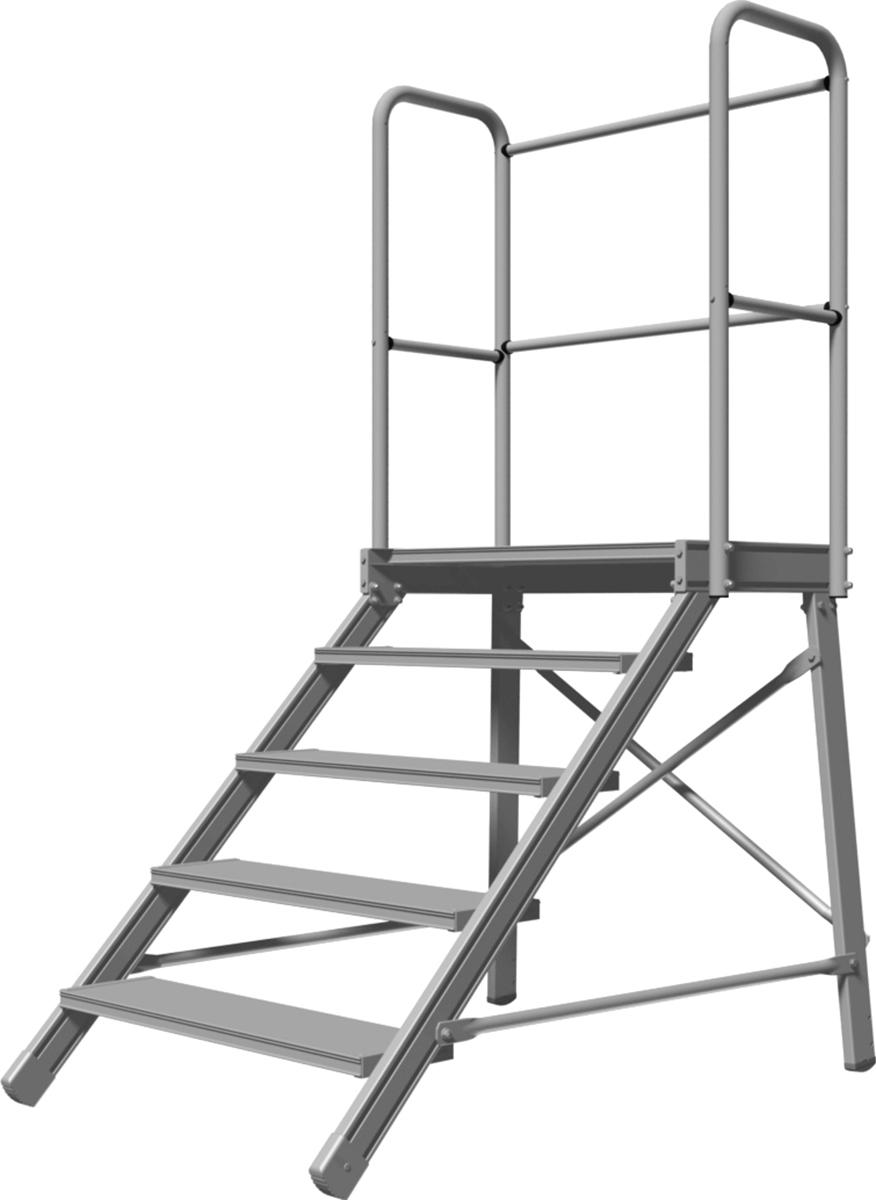 Hymer Podestgeländer 2-4 Stufen 600 mm Stufenbreite