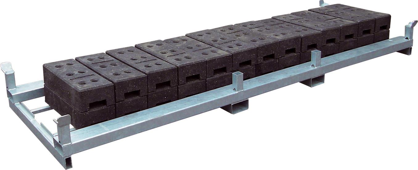 Schake Lager- und Transporttraverse für 30 Fußplatten