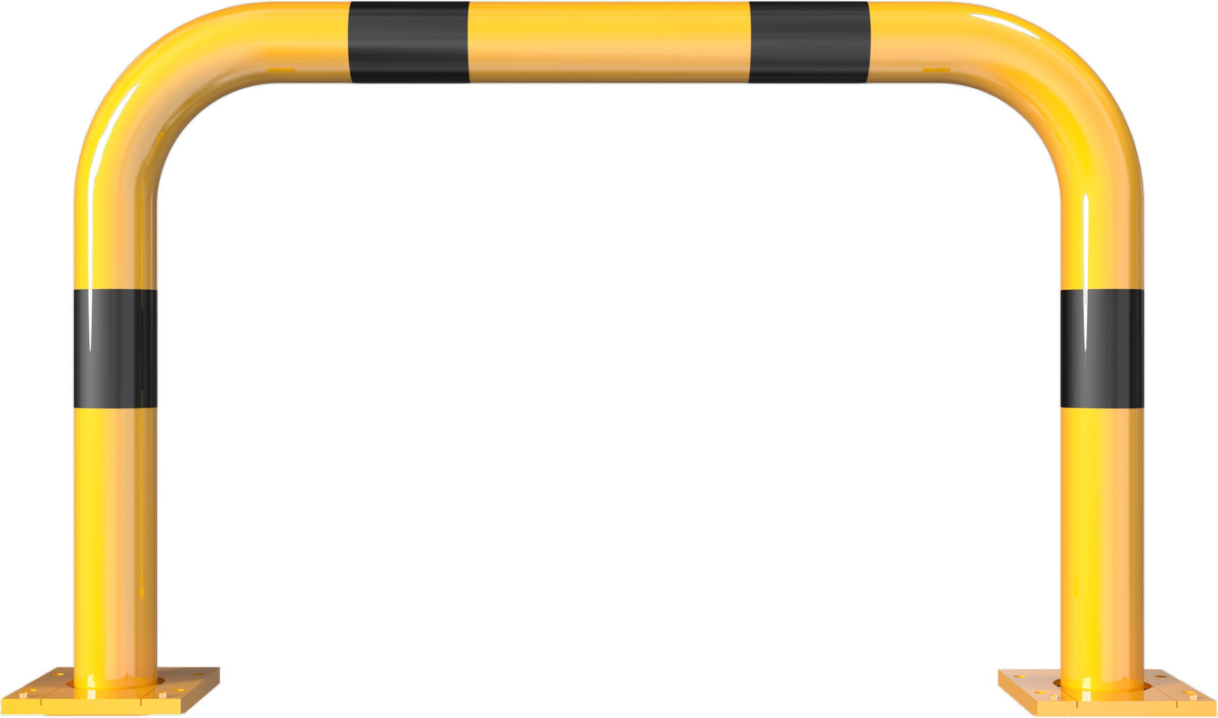 Schake Rammschutzbügel Stahl abnehmbar Ø 76 mm gelb | schwarz