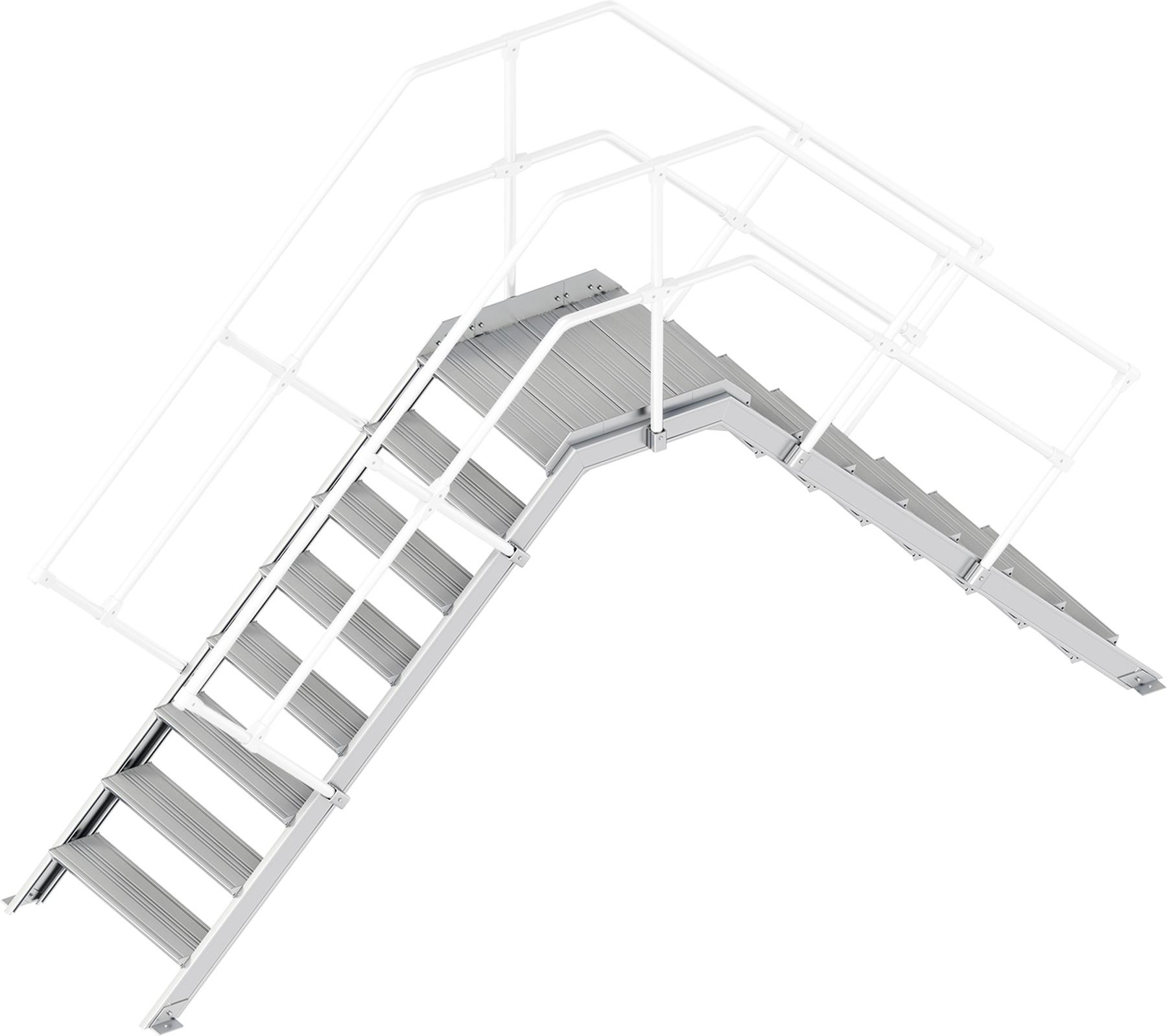 Layher Übergang 45° 8 Stufen - 800 mm breit