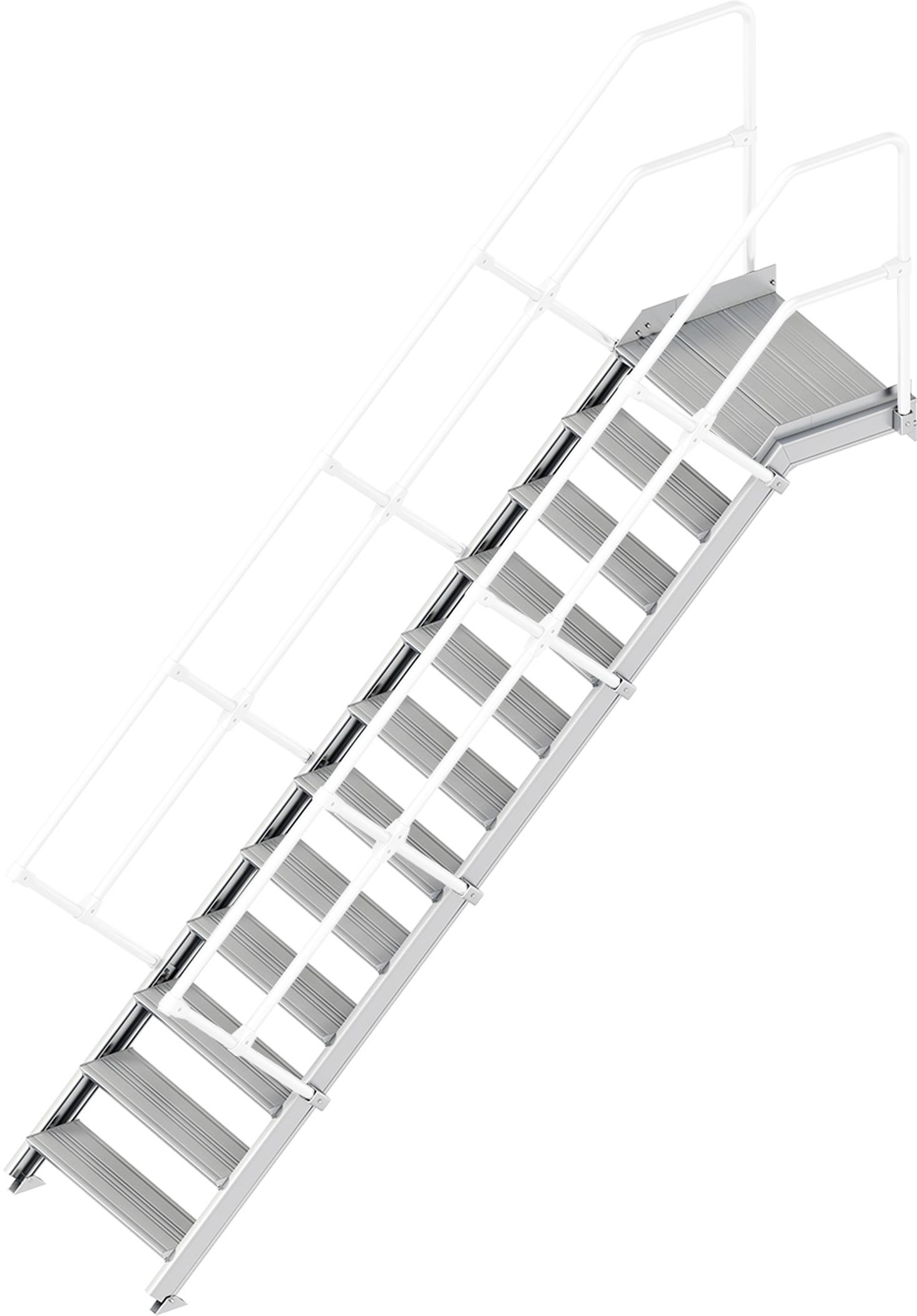Layher Plattformtreppe 45° 12 Stufen - 800 mm breit
