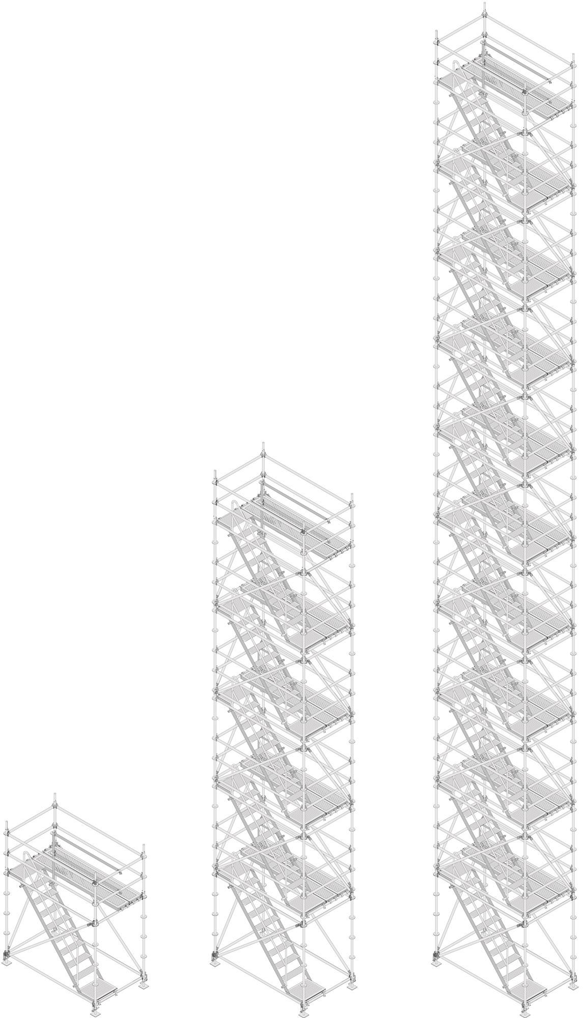 Layher Allround Modultreppenturm