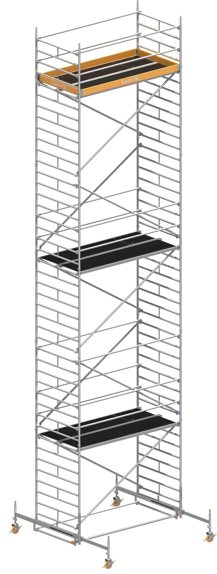 Fahrgerüst Layher Uni Breit 2110 mit Geländer-Optimierung