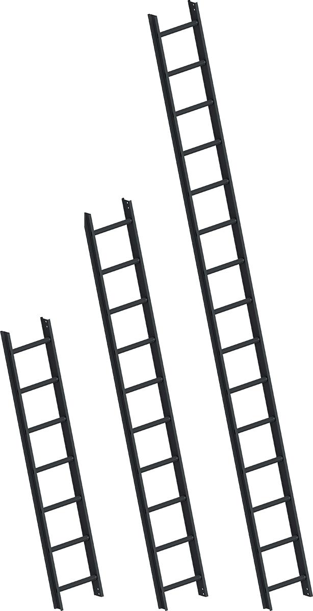 Layher Dachleiter Alu Sprossen RAL 7016