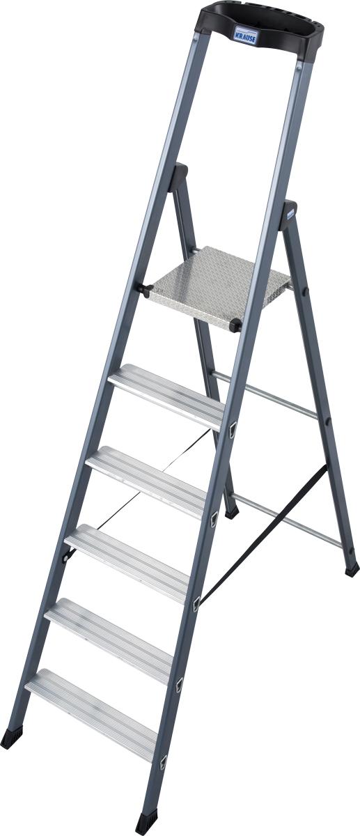 Krause Alu-Stufenstehleiter Sepro® S eloxiert 6 Stufen