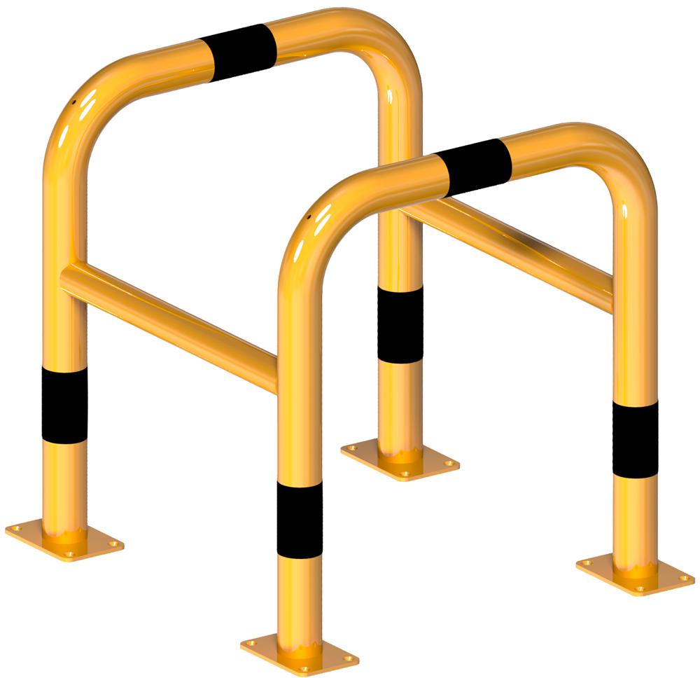 Schake Rammschutzbügel Stahl Säulenbügel Ø 60 mm gelb | schwarz