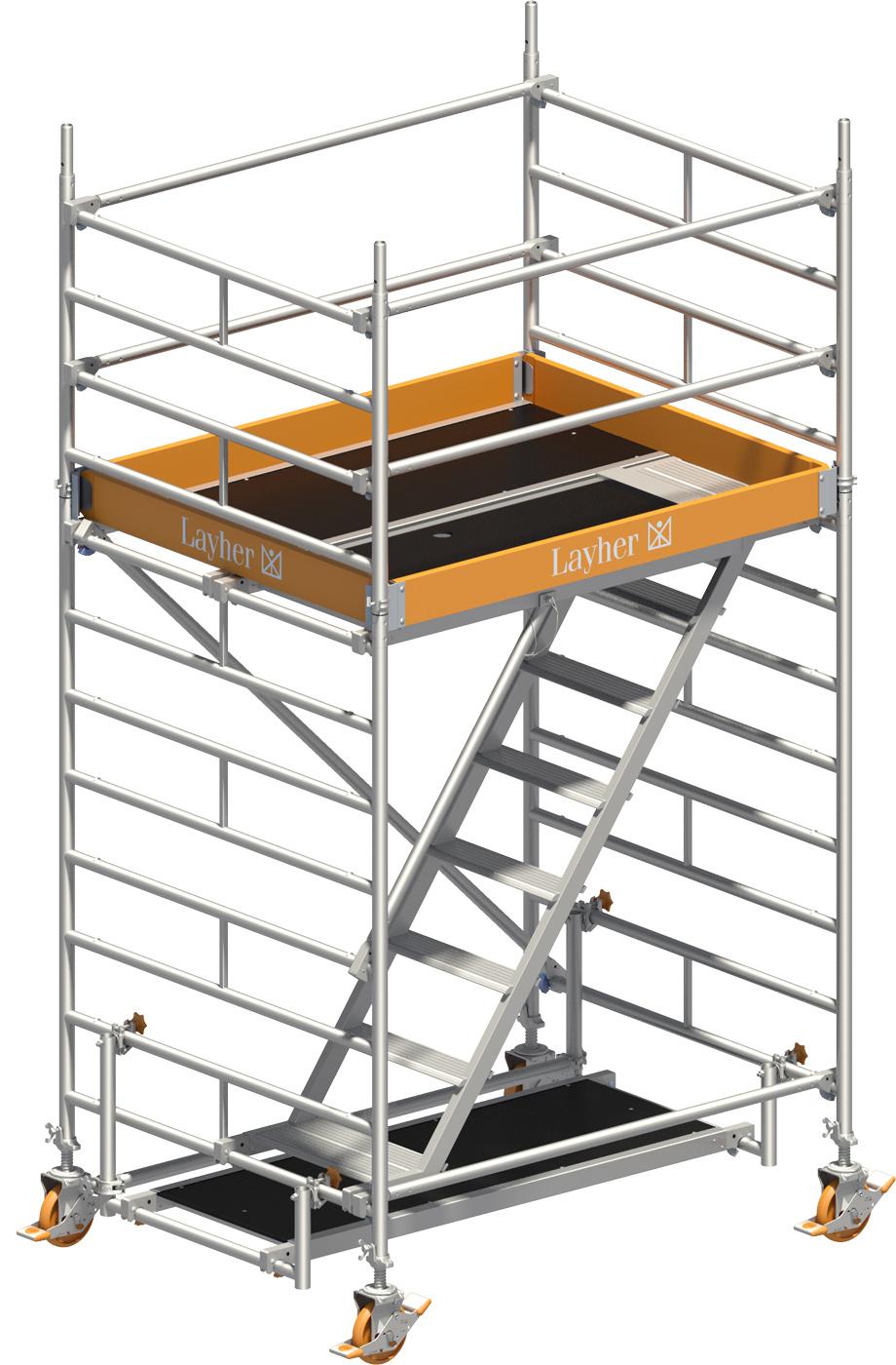 Treppengerüst Layher Uni Komfort 4201