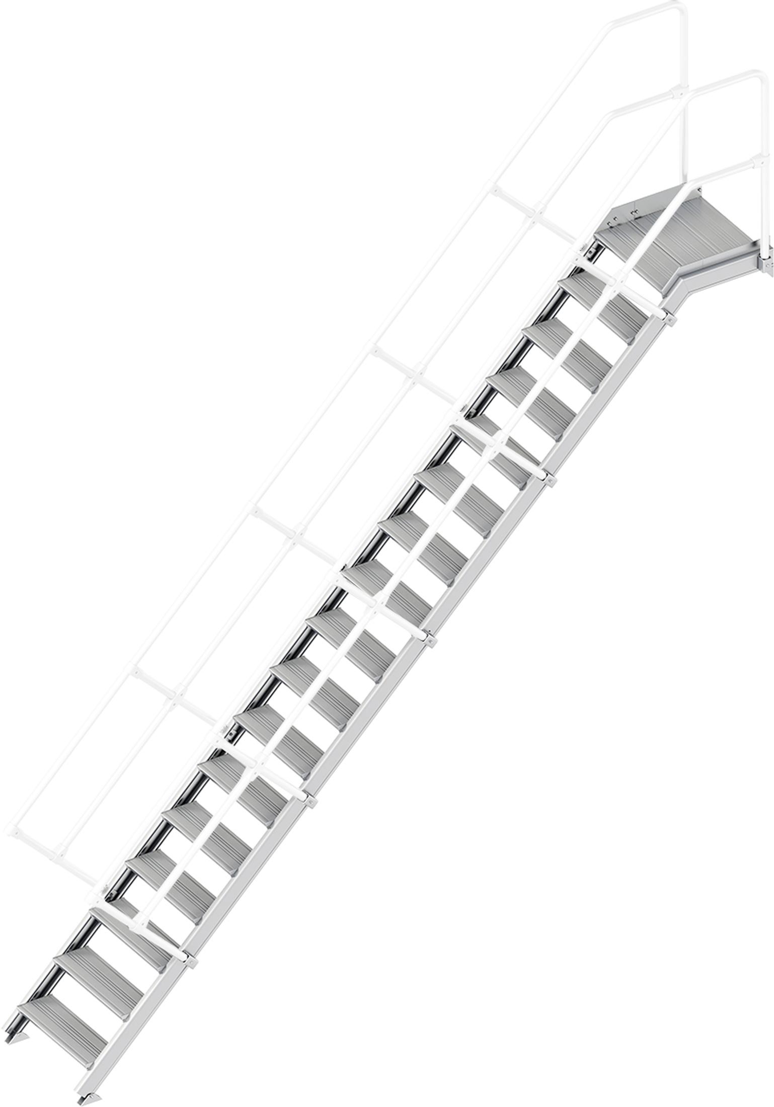 Layher Plattformtreppe 45° 17 Stufen - 600 mm breit