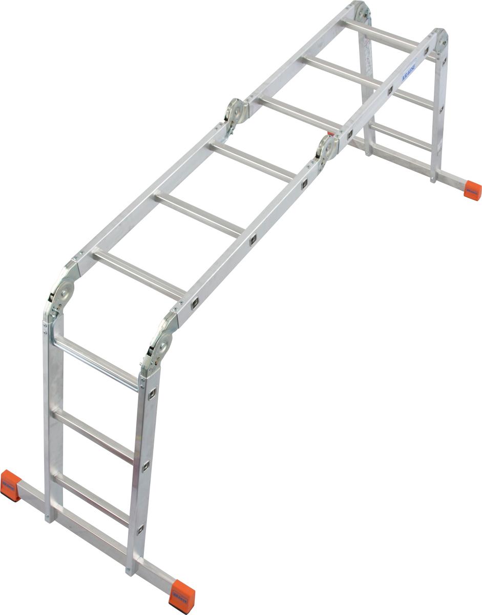 Krause Alu-Sprossengelenkleiter MultiMatic® 4x3 Sprossen
