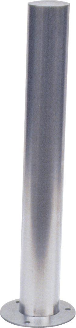 Schake Edelstahlpfosten OE Ø 89 mm Pfosten mit gewölbtem Kopf - ortsfest - zum Einbetonieren (SK-4089) Bild-01