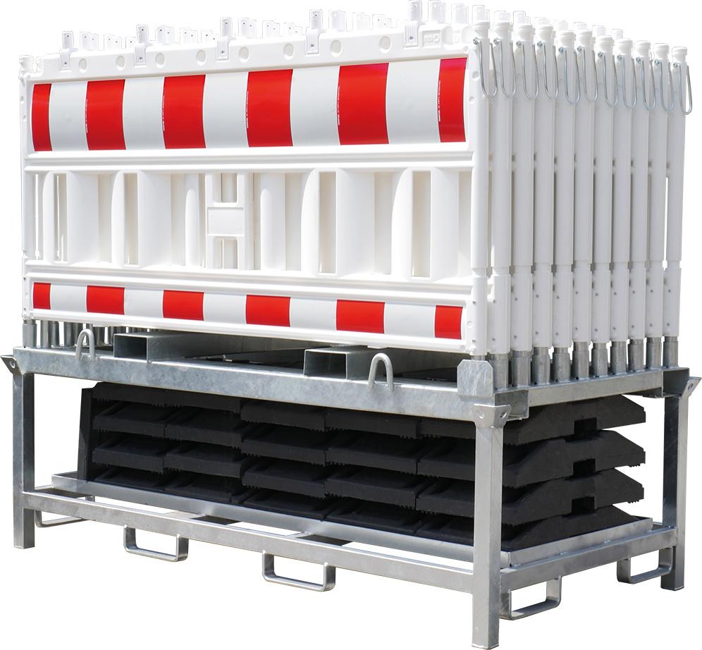 Schake Schrankenzaunset Typ NOX mit Transportpalette