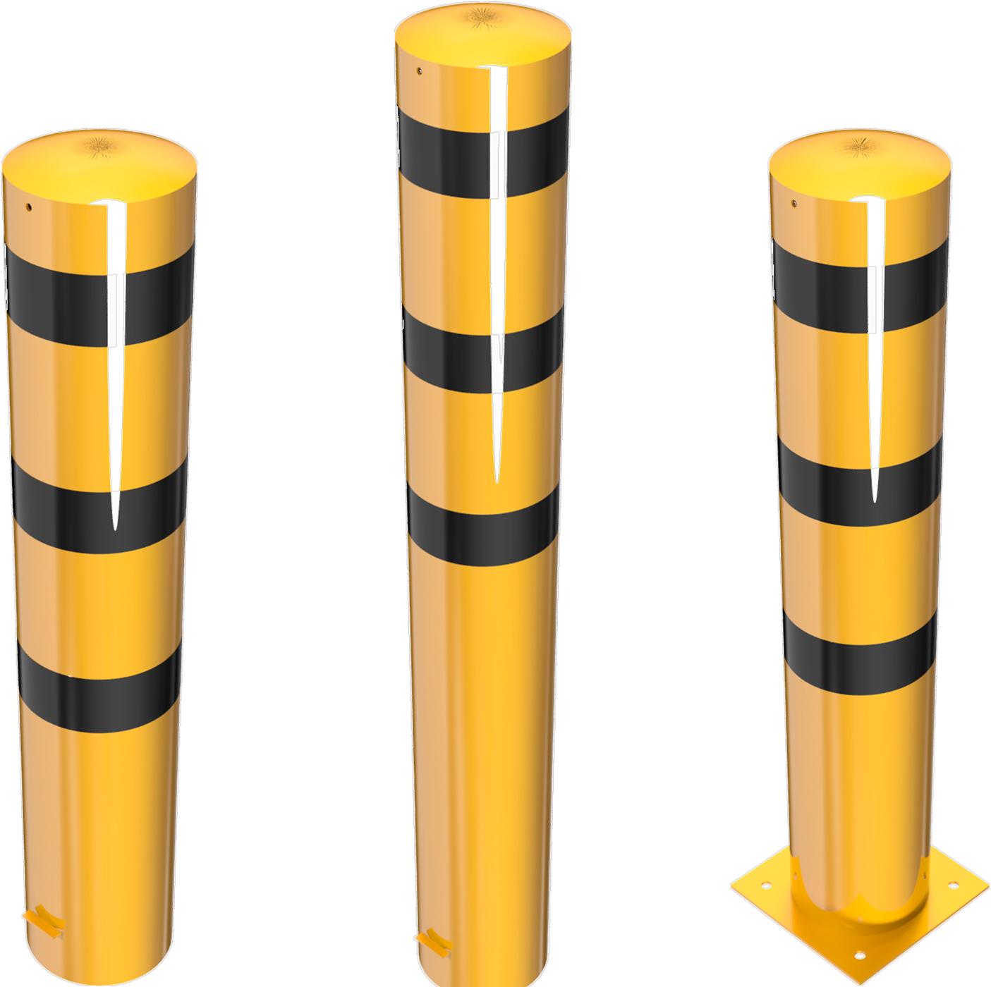 Schake Stahlrohrpoller Ø 273 mm gelb   schwarz