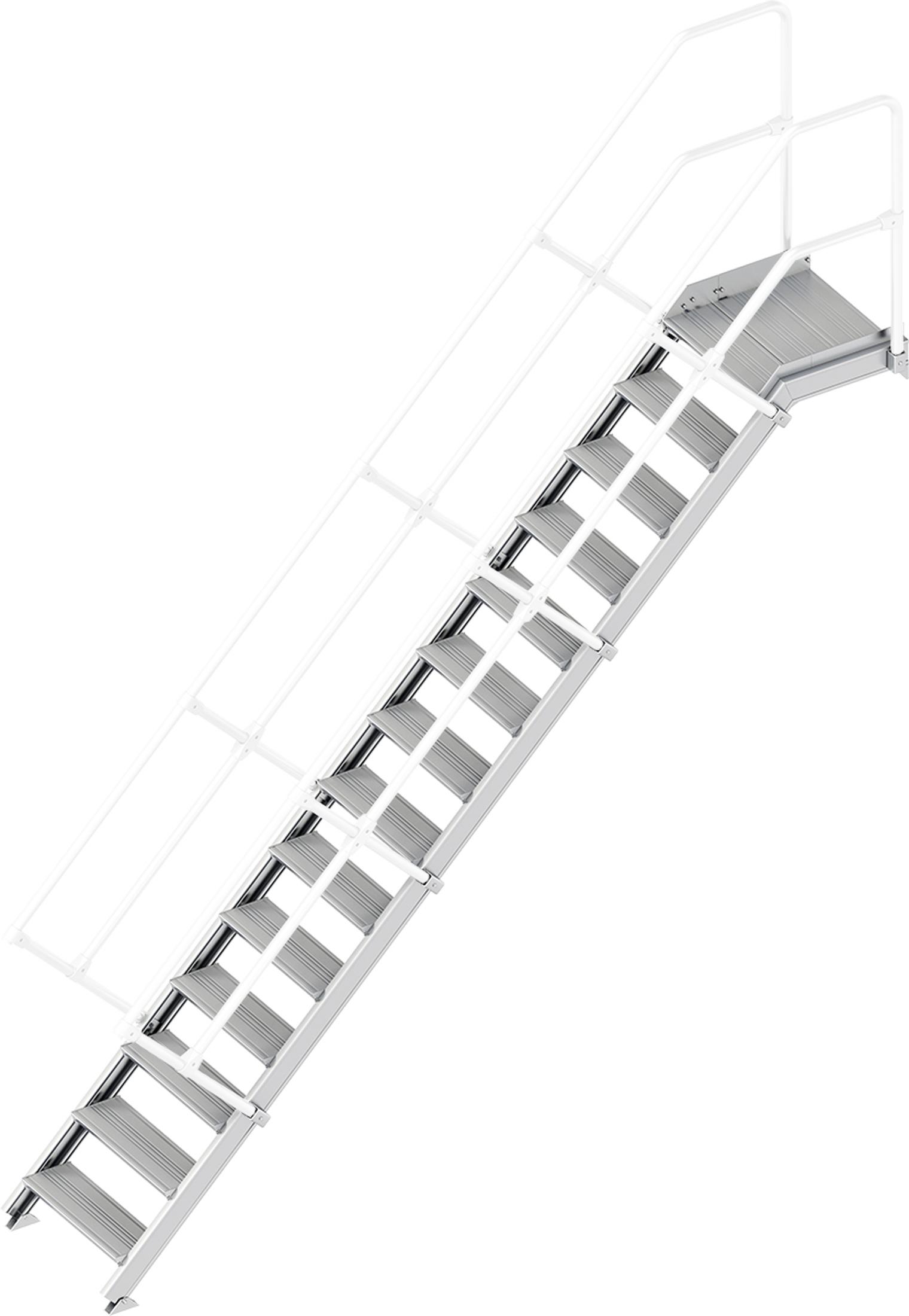 Layher Plattformtreppe 45° 14 Stufen - 600 mm breit