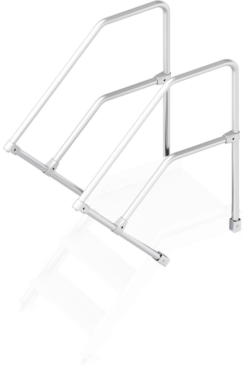 Layher Handlauf Geländer Plattformtreppe 45° 3 Stufen