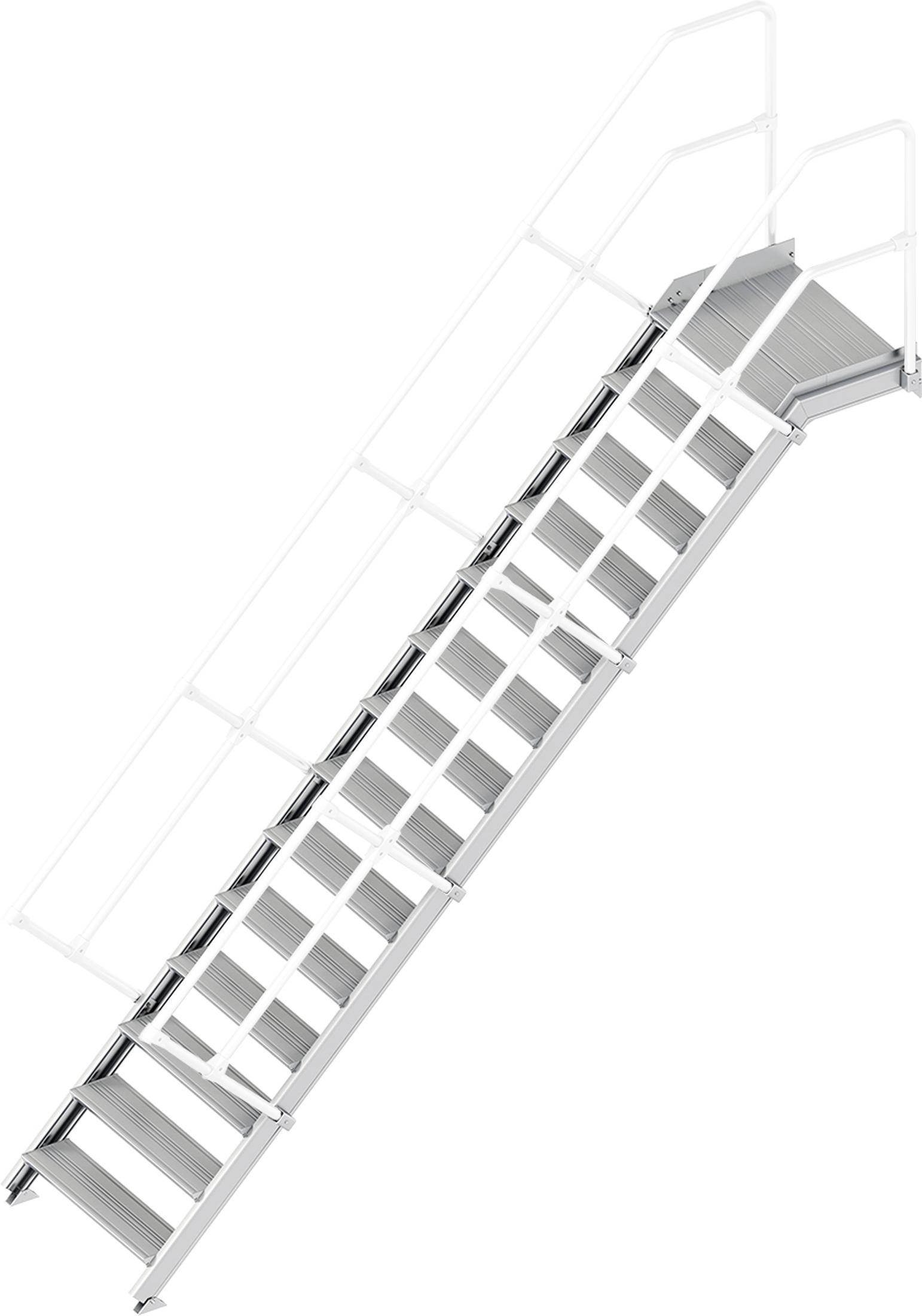 Layher Plattformtreppe 45° 14 Stufen - 800 mm breit