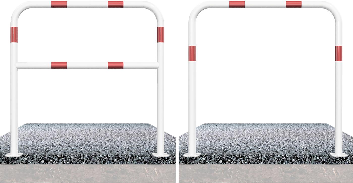 Schake Rohrbügel Stahl Ø 48 mm weiß | rot