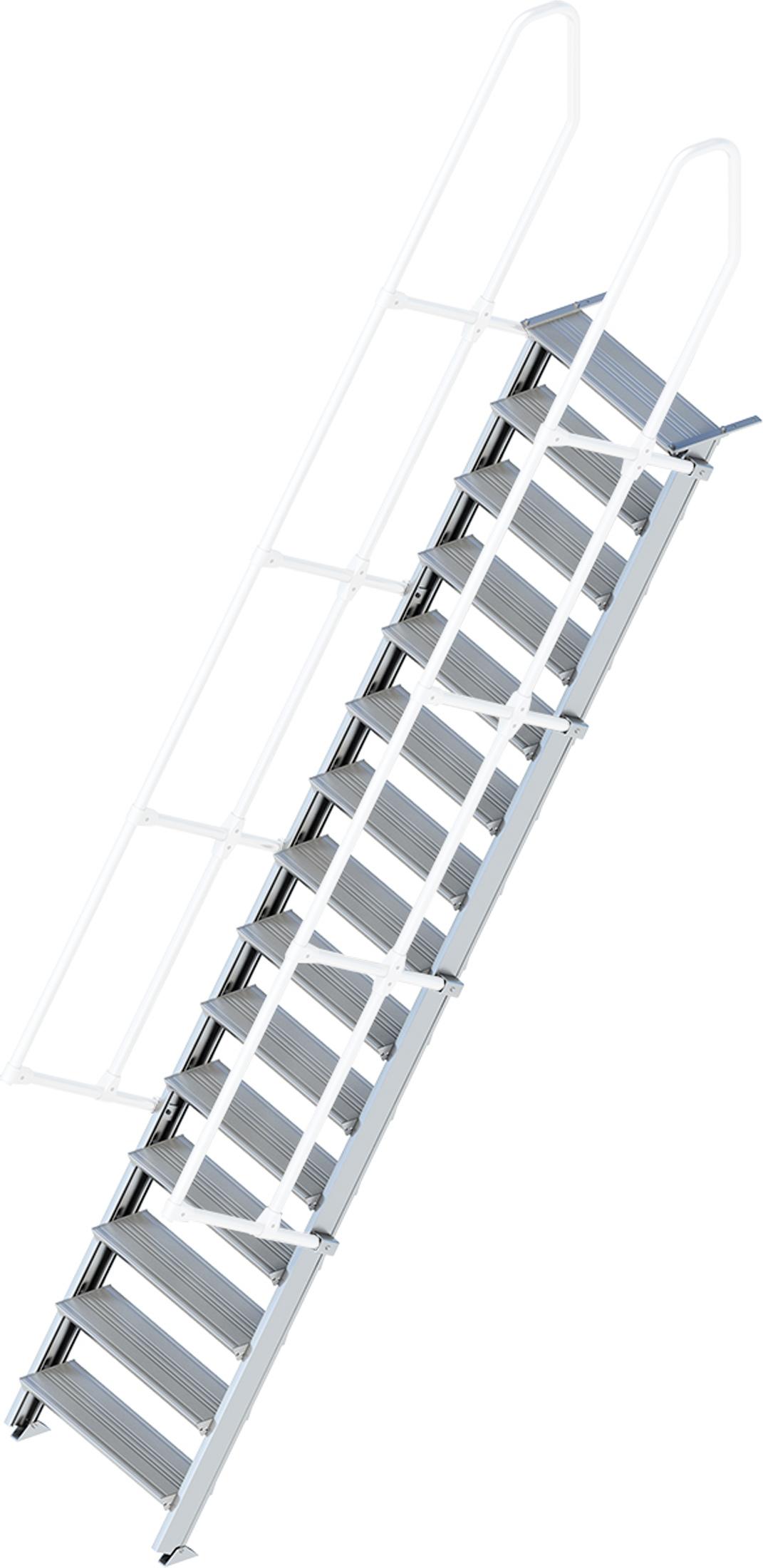 Layher Treppe 60° 15 Stufen - 800 mm breit