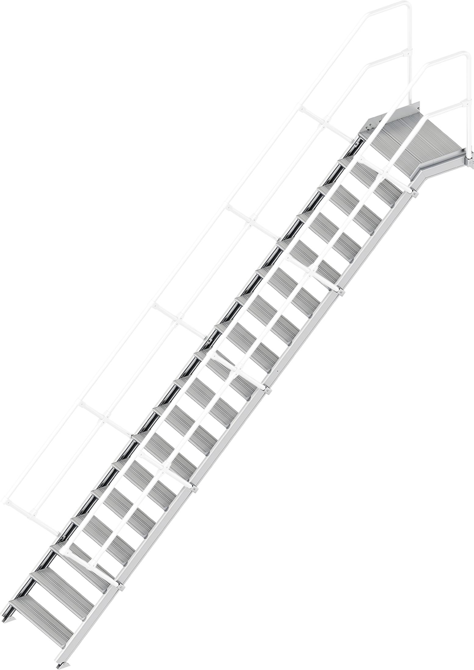 Layher Plattformtreppe 45° 18 Stufen - 800 mm breit