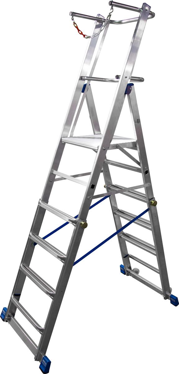 Krause Alu-Teleskop-Plattformleiter 6-8 Stufen