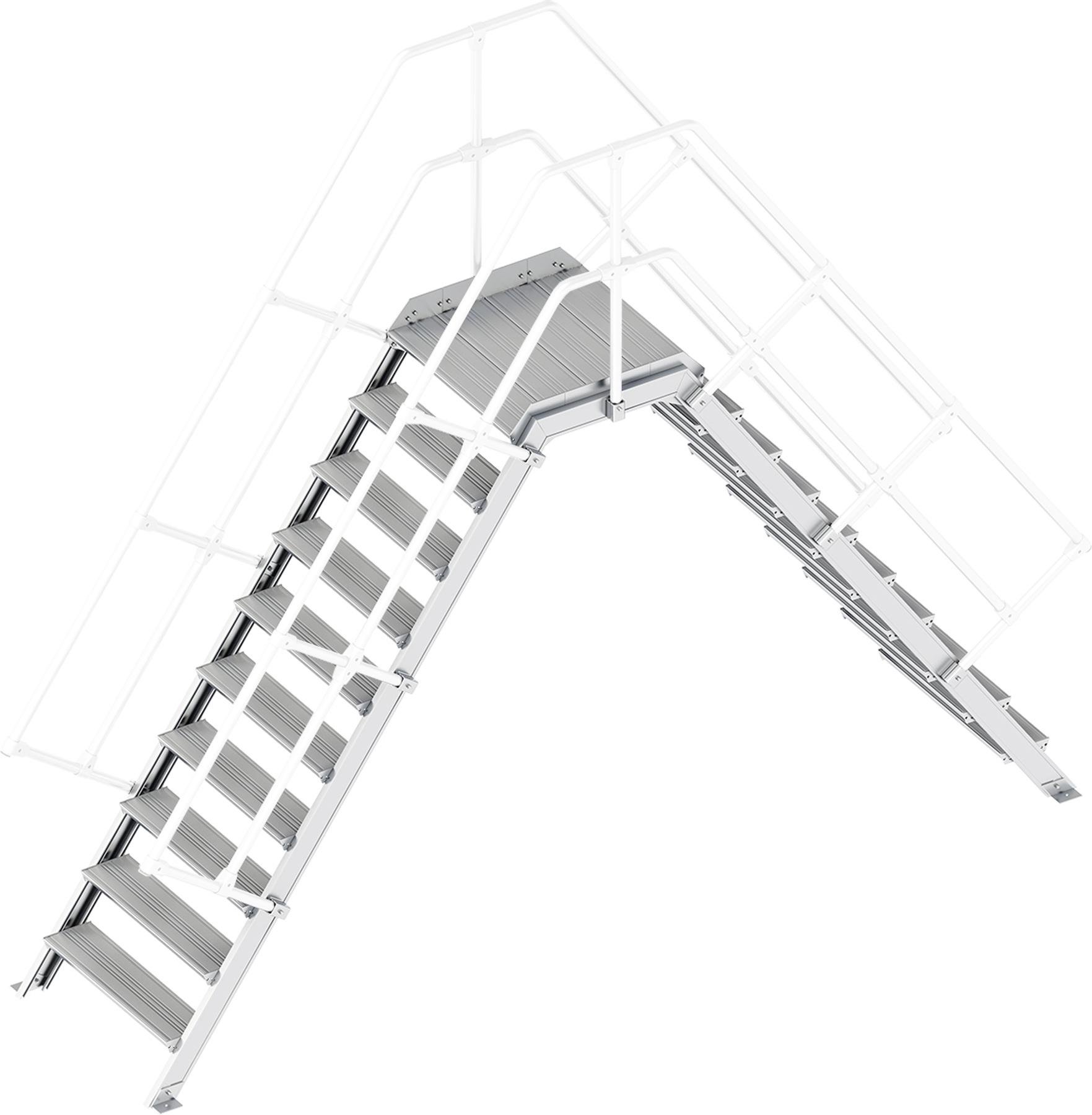 Layher Übergang 55° 10 Stufen - 800 mm breit