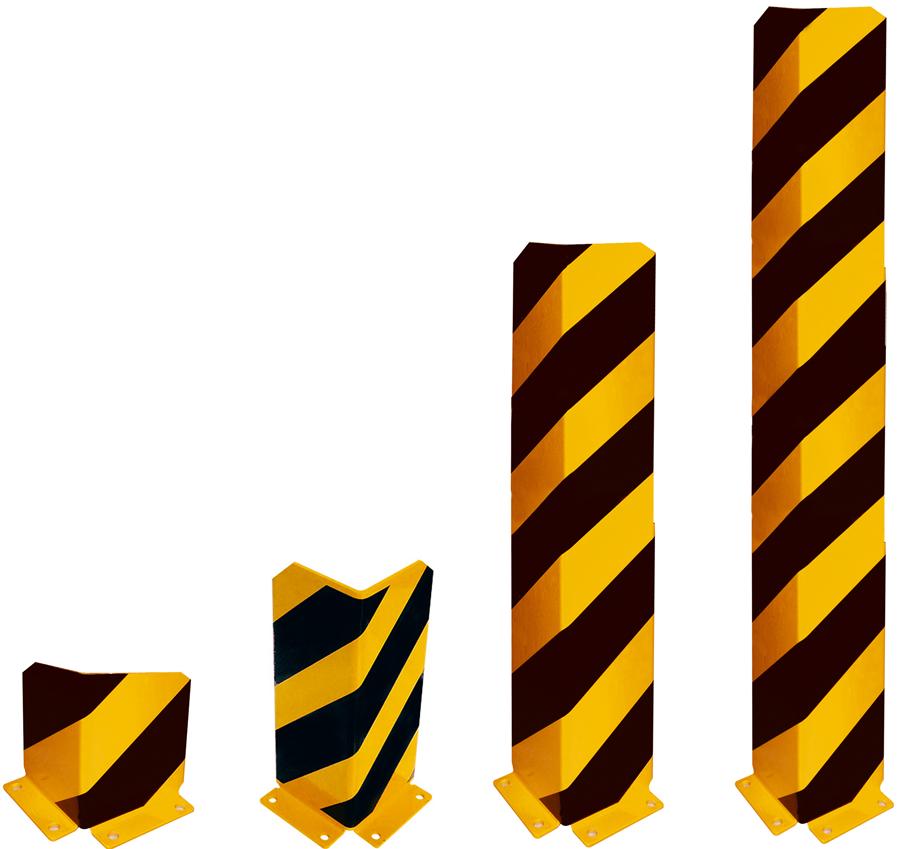 Schake Anfahrschutzwinkel Stahlblech 5 mm gelb | schwarz