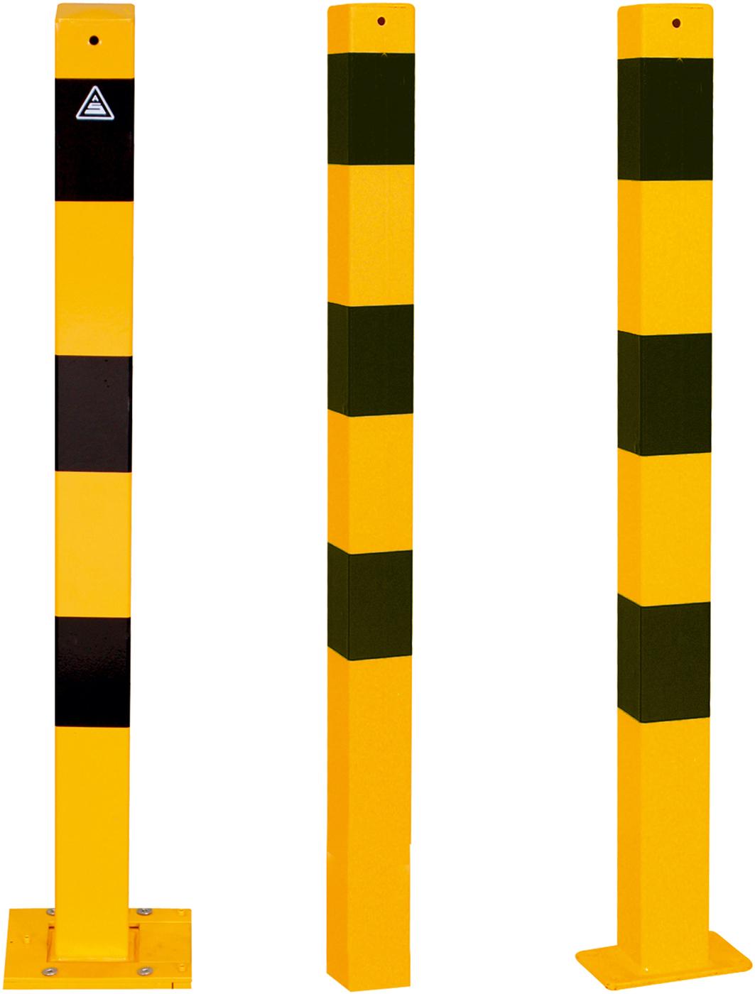 Schake Absperrpfosten 70 x 70 mm gelb | schwarz