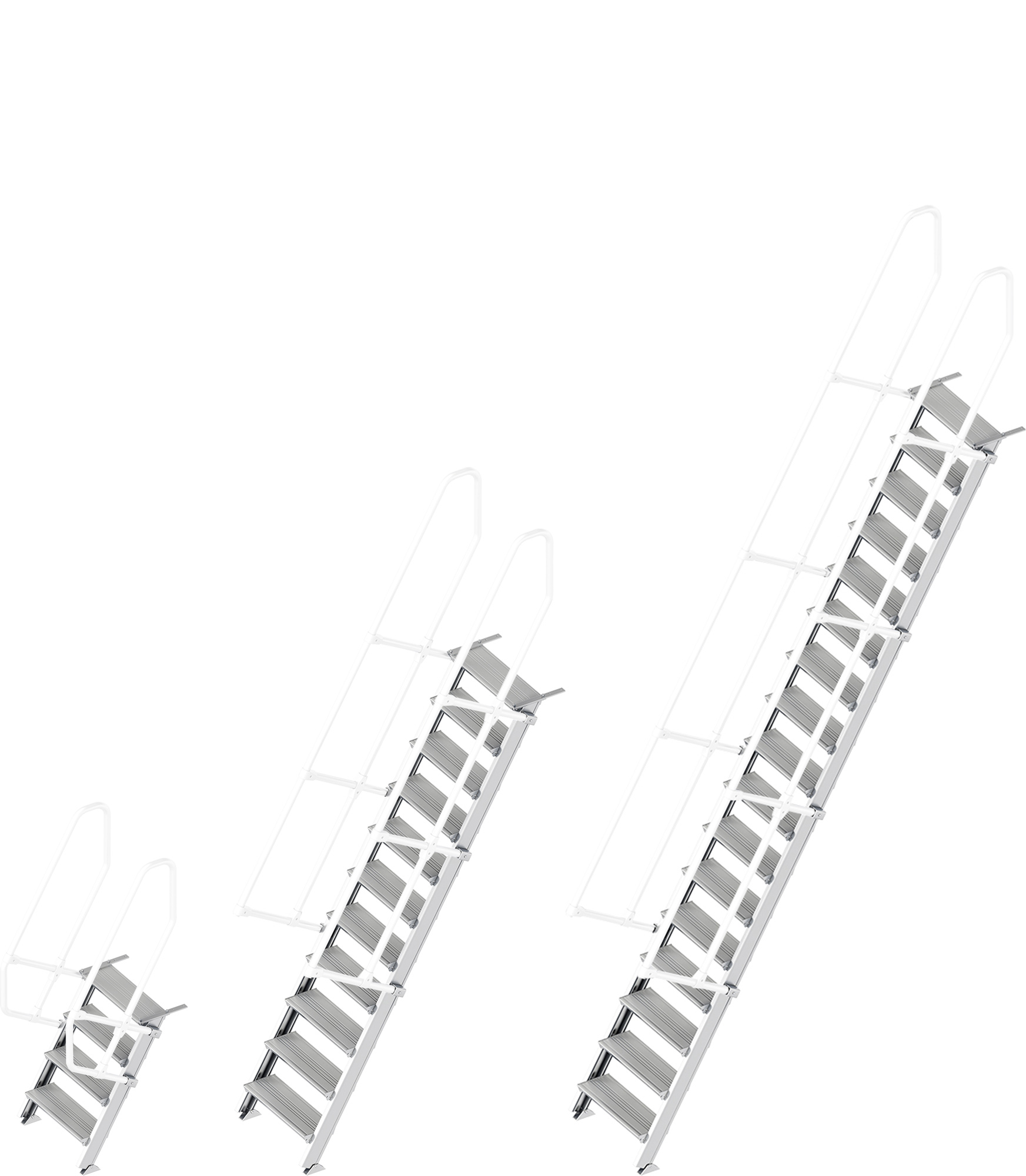 Layher Treppe 60° - 600 mm breit - ohne Handlauf