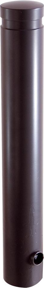 Schake Stilpoller 40120 OE Ø 120 mm anthrazit - 750 mm Aluminumpoller mit Flachkopf - ortsfest - zum Einbetonieren (SK-40120B) Bild-01