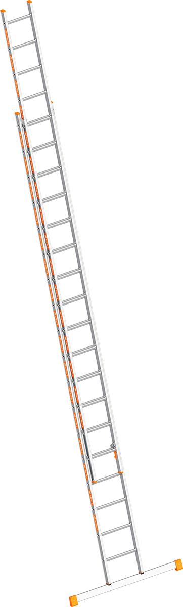 Layher Schiebeleiter Alu 2x18 Sprossen