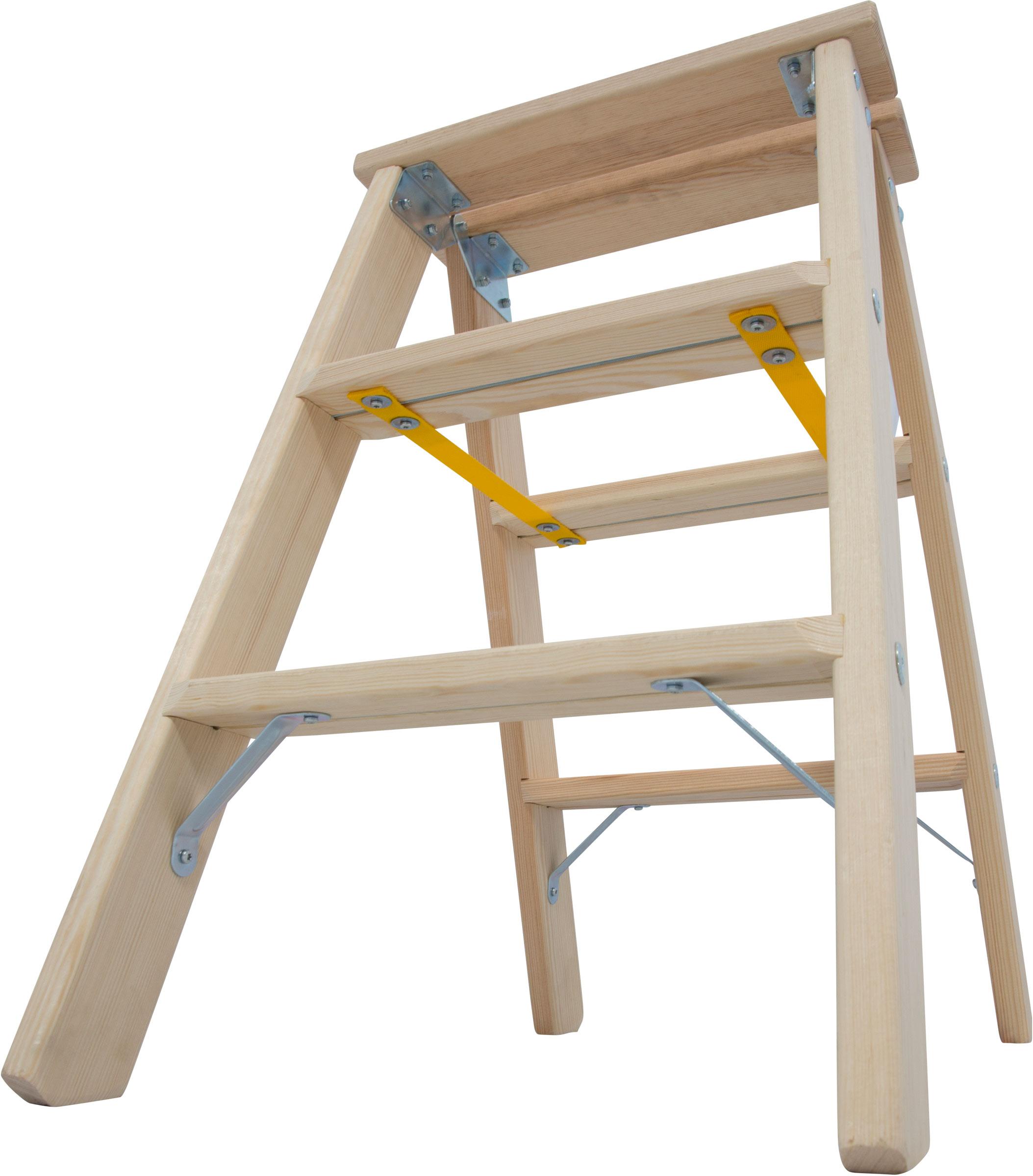 Krause Holz-Stufendoppelleiter 2x3 Stufen